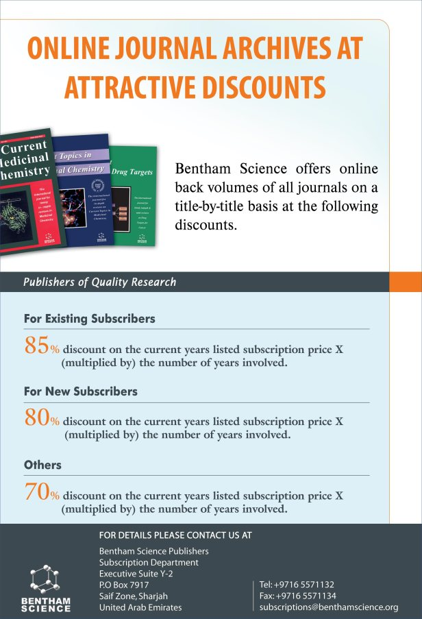 OnlineBentham Science Journals at Attractive Discounts