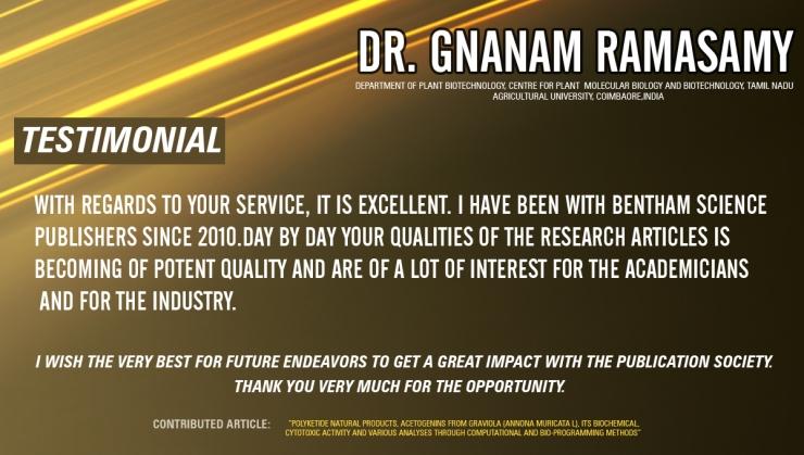 Dr Gnanam Ramasamy