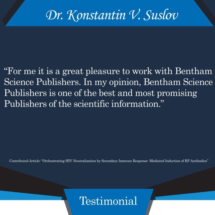 Dr. Konstantin V. Suslov