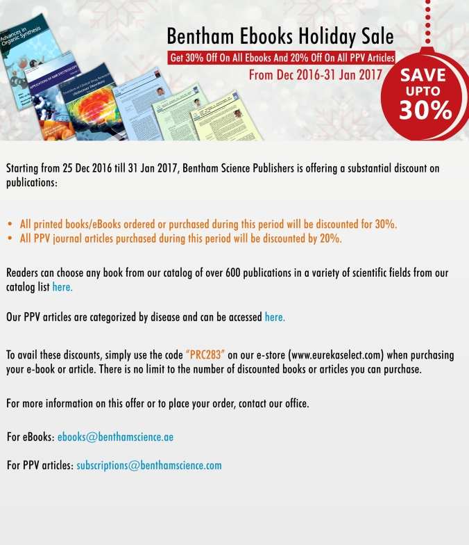 Holiday sale | Bentham Science