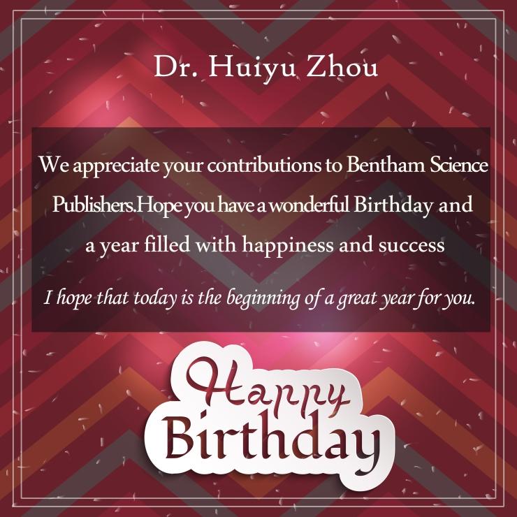 Dr. Huiyu Zhou-24 march