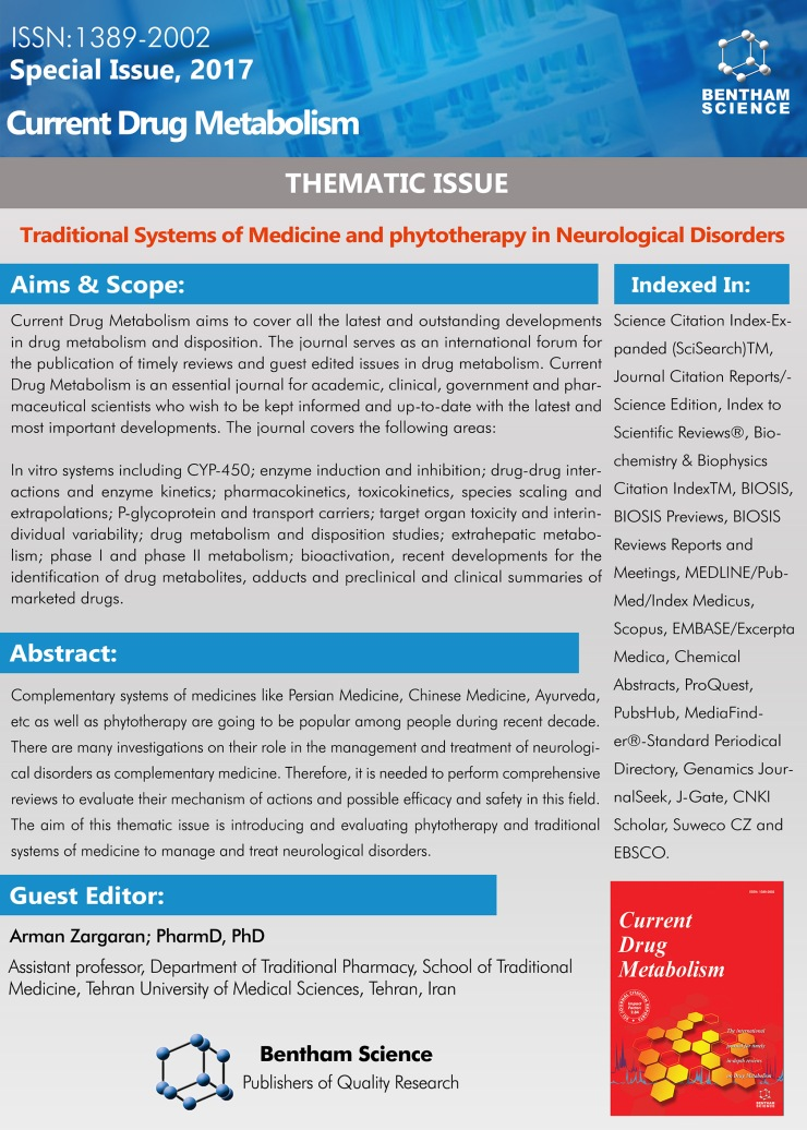 CDM THEMATIC FLYER- Arman Zargaran; PharmD, PhD