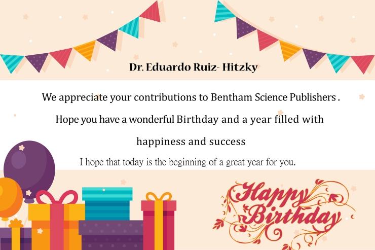 Dr. Eduardo Ruiz- Hitzky