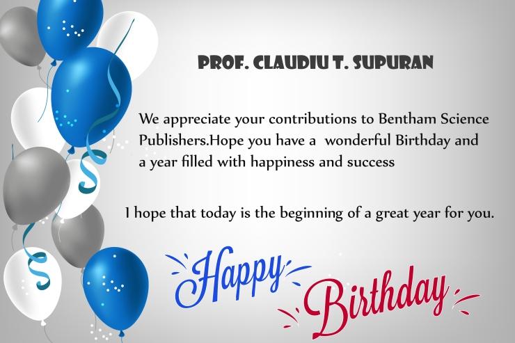 Prof. Claudiu T. Supuran