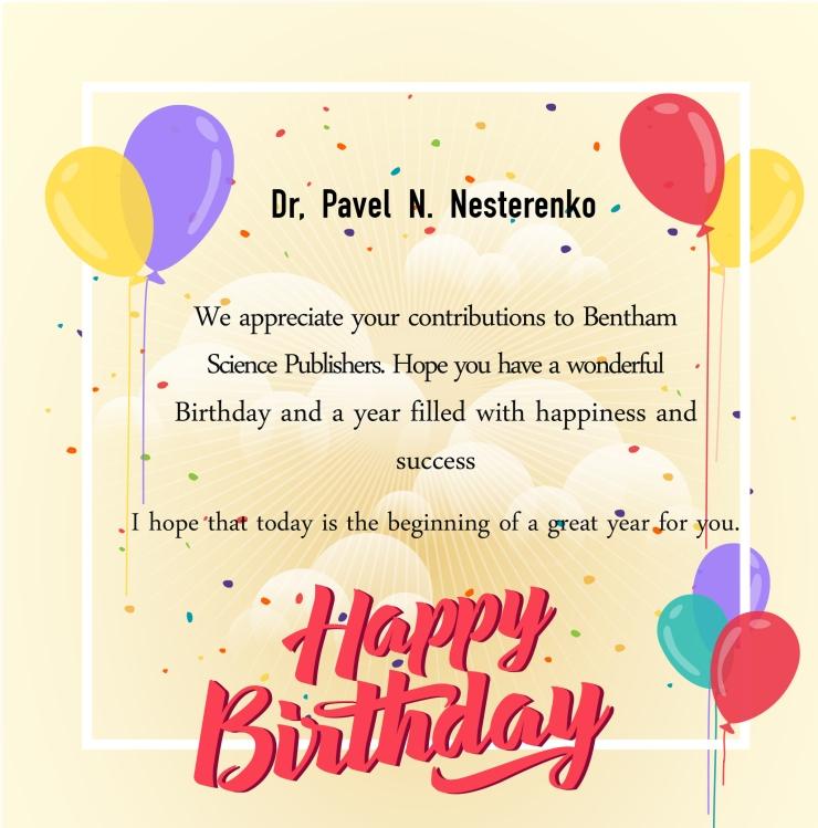 Dr, Pavel N. Nesterenko