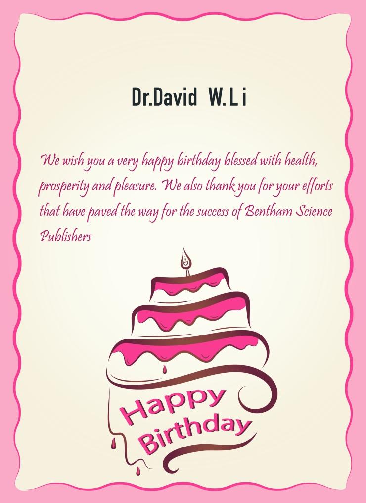 Dr.David W.li