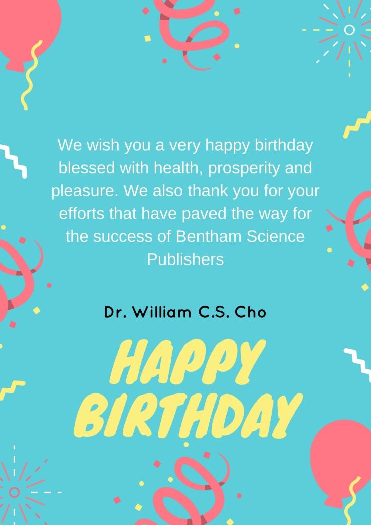 Dr. William C.S. Cho