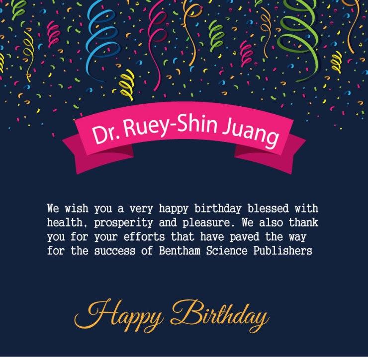 Dr. Ruey-Shin Juang