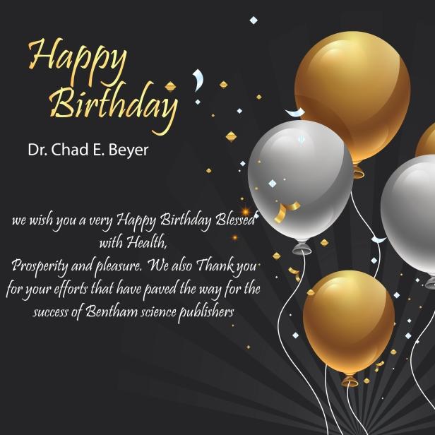 Dr Chad E Beyer