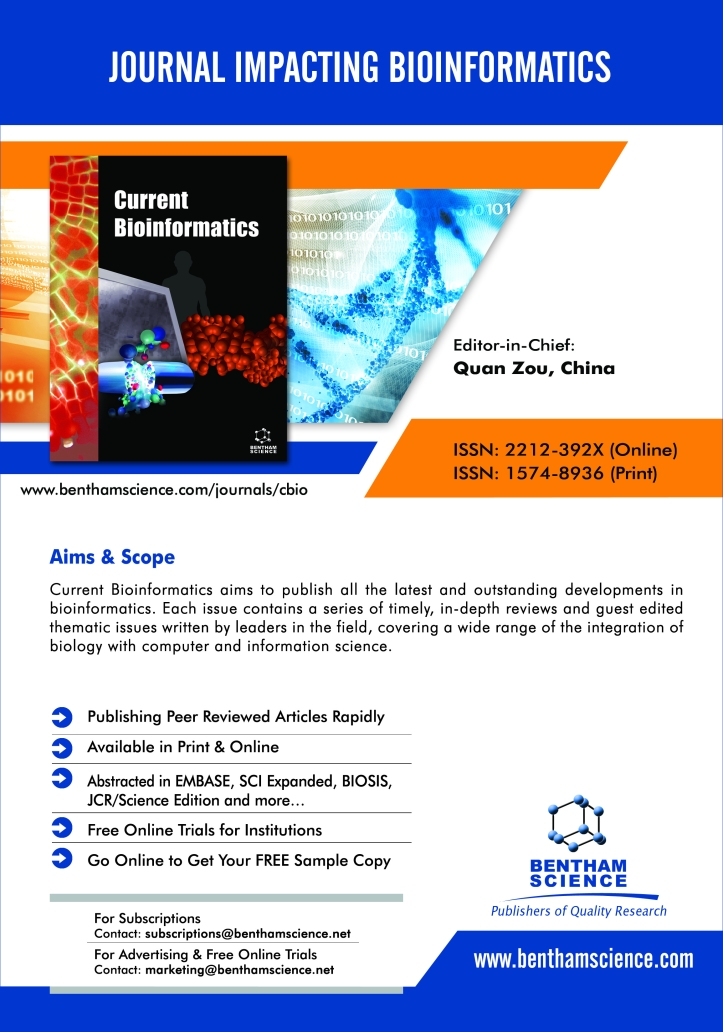 Aims and Scope   Current Bioinformatics