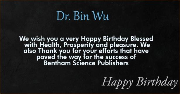 Dr. Bin Wu