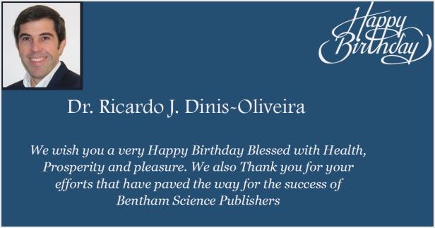 Dr. Ricardo J. Dinis-Oliveira